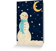 Snowmen moonlight Greeting Card