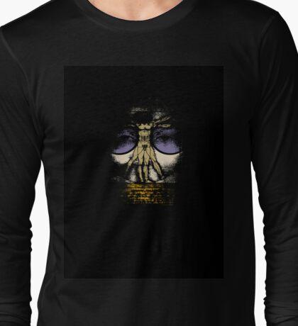 The Hidden face of the Vitruvian Man Long Sleeve T-Shirt