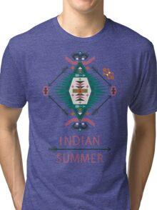 Сolorful decorative geometric pattern in tribal american style Tri-blend T-Shirt
