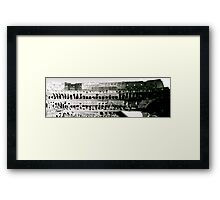 The Colosseum - In Black & White Framed Print