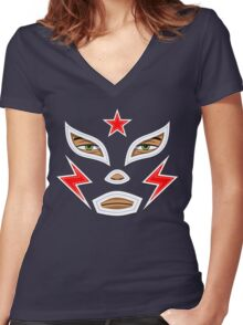 Luchador Women's Fitted V-Neck T-Shirt