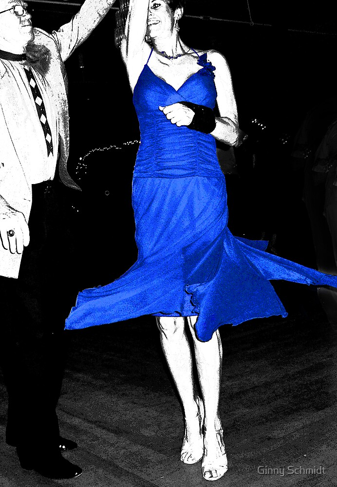 Blue Dress Dancing by Ginny Schmidt