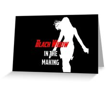 Black Widow in the Making Greeting Card