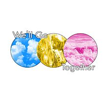 Destiny Trio Abstract - We'll go Together Photographic Print