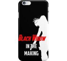 Black Widow in the Making iPhone Case/Skin