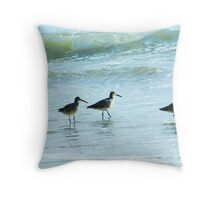 Sandpipers march Throw Pillow