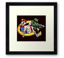 Console Mascots team up Framed Print