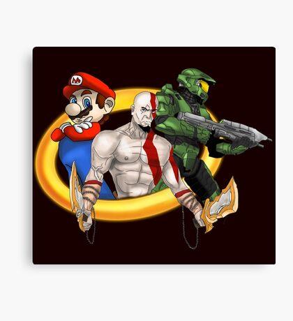Console Mascots team up Canvas Print