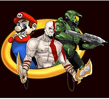 Console Mascots team up Photographic Print