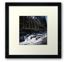 Waterfall in Glen Orchy Framed Print