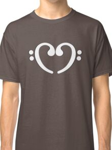 Music Notes White Heart Classic T-Shirt