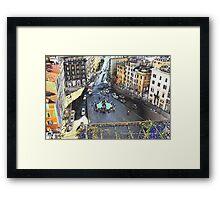Una Piazza di Roma Framed Print