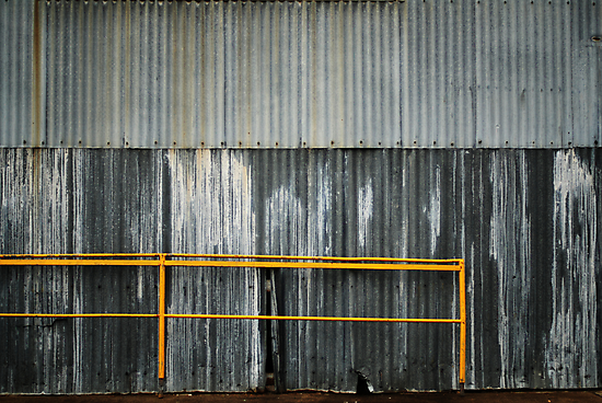 yellow railing by Janet Leadbeater