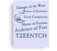 Tzeentch, Architect of Fate Blue Canvas Print