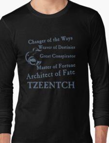 Tzeentch, Architect of Fate Blue Long Sleeve T-Shirt