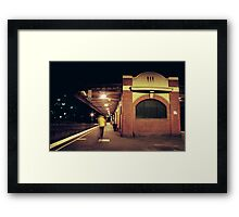 Heidelberg Station night train Framed Print