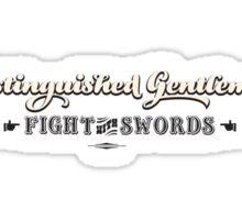 Distinguished Gentlemen Fight with Swords Sticker