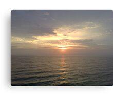 same horizon, different moment Canvas Print