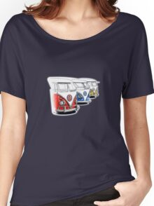 Type 2 Split Bus - Tres Amigos Signed Drawing Print Women's Relaxed Fit T-Shirt