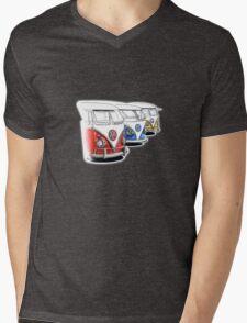 Type 2 Split Bus - Tres Amigos Signed Drawing Print Mens V-Neck T-Shirt