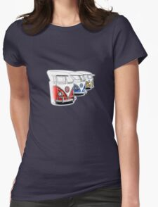 Type 2 Split Bus - Tres Amigos Signed Drawing Print Womens Fitted T-Shirt