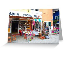 Cancun market Greeting Card
