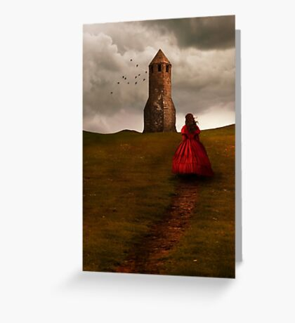 Girl in red Greeting Card