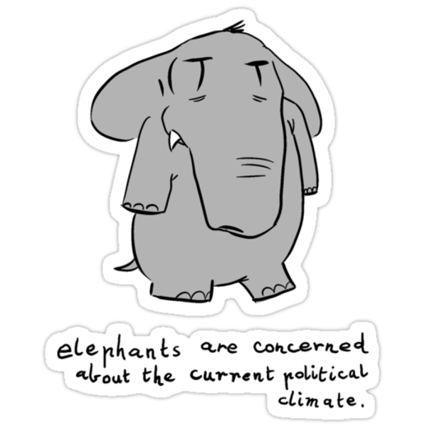 elephants are concerned about the current political climate by Paul McClintock