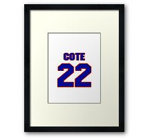 National Hockey player Jean-Philippe Cote jersey 22 Framed Print