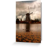 An old windmill Greeting Card