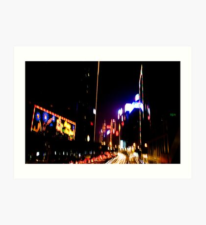 Hong Kong @ night Art Print