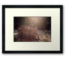 Is that carol singers, down there, dear???  Framed Print
