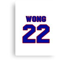 National Hockey player Mike Wong jersey 22 Canvas Print