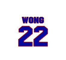 National Hockey player Mike Wong jersey 22 Photographic Print