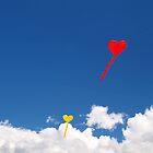 heart shaped kites by dbax