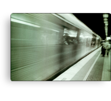 and the train goeth...... Canvas Print