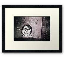 smile or die punk.... Framed Print