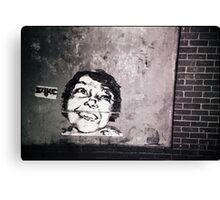 smile or die punk.... Canvas Print