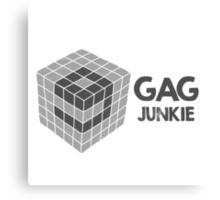 9gag junkie logo in cube Canvas Print