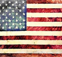 Vintage American Flag by morningdance