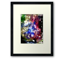 Multi Colored Acrylics Texture Framed Print