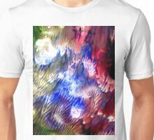 Multi Colored Acrylics Texture Unisex T-Shirt