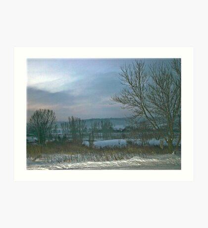 Cold Winter Morning Art Print