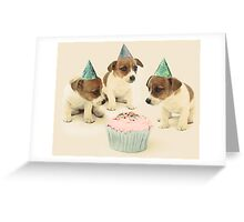 Vintage Puppy Birthday Card Greeting Card