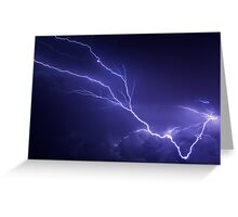 Lightning over Jackson Greeting Card