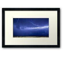Lightning over Jackson Framed Print