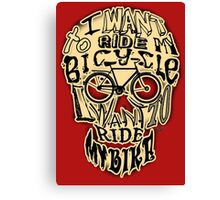 Bicycle Race Skull! Canvas Print