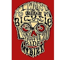 Bicycle Race Skull! Photographic Print
