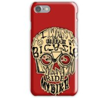 Bicycle Race Skull! iPhone Case/Skin