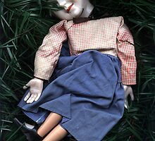 girl in grass by hugh bridgeford